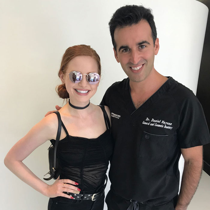 Dr Naysan with Madeline Petsch