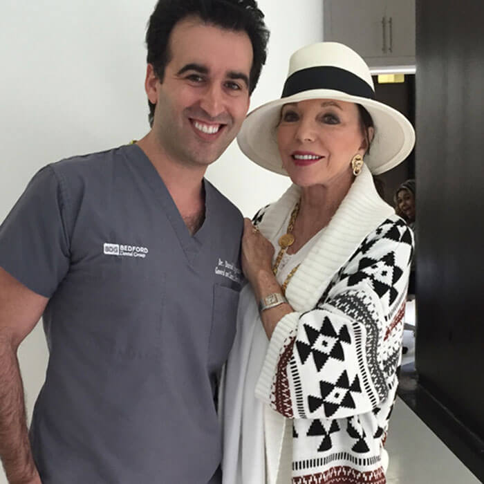 Dr Naysan with Joan Collins