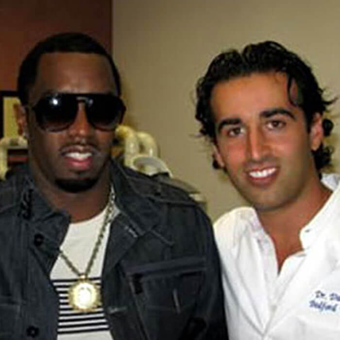 Dr Naysan with Sean p diddy combs